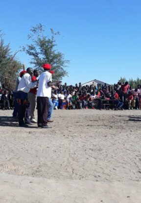 Traditional dancers at Mwandi Chiefdom Chiefs Tour